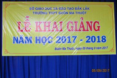 Lễ khai giảng năm học mới 2017-2018